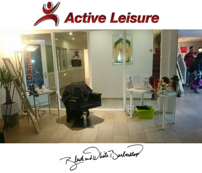 black and white barbershop - active leisure