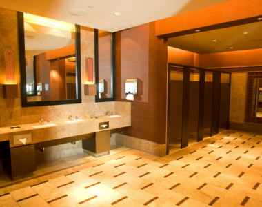 Gebruik openbaar toilet als een heer